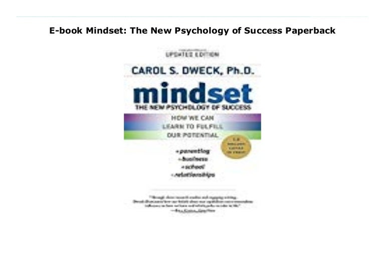 E Book Mindset The New Psychology Of Success Paperback