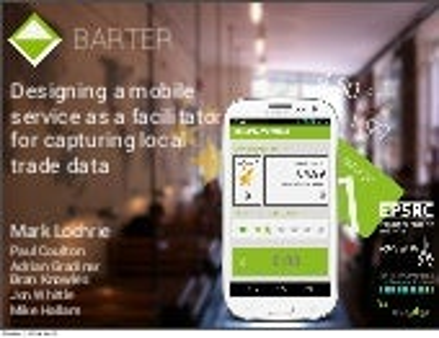 Designing a mobile service as a facilitator for capturing local trade data