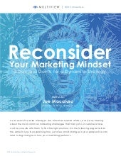 Reconsider Your Marketing Mindset
