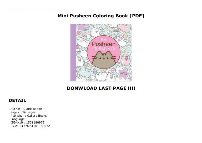 - Mini Pusheen Coloring Book [PDF]