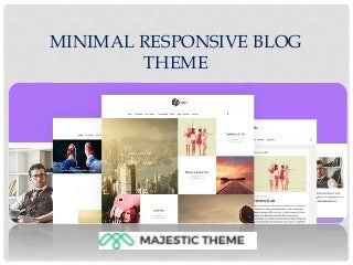Minimal responsive blog theme