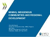 Mining, indigenous and regional development