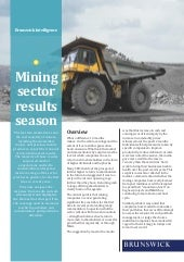 Mining Sector Results Season