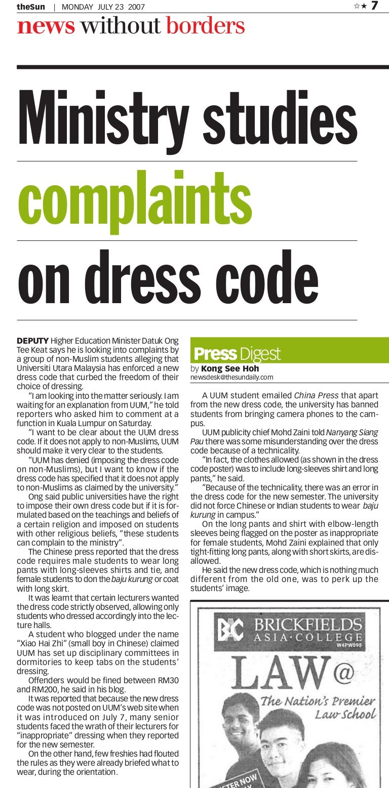 Students Say Dress Codes More for Girls Than Boys | Women ...