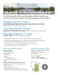 Minneapolis Riverfront Parks Meetings July-August 2011
