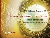 Mipim asia awards sept 14 press conference winners presentation