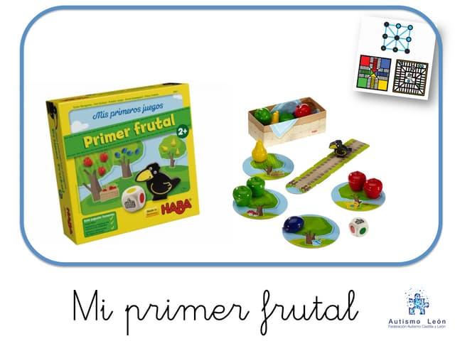 """Adaptación del juego de mesa """"Mi primer frutal"""" para niños con TEA."""