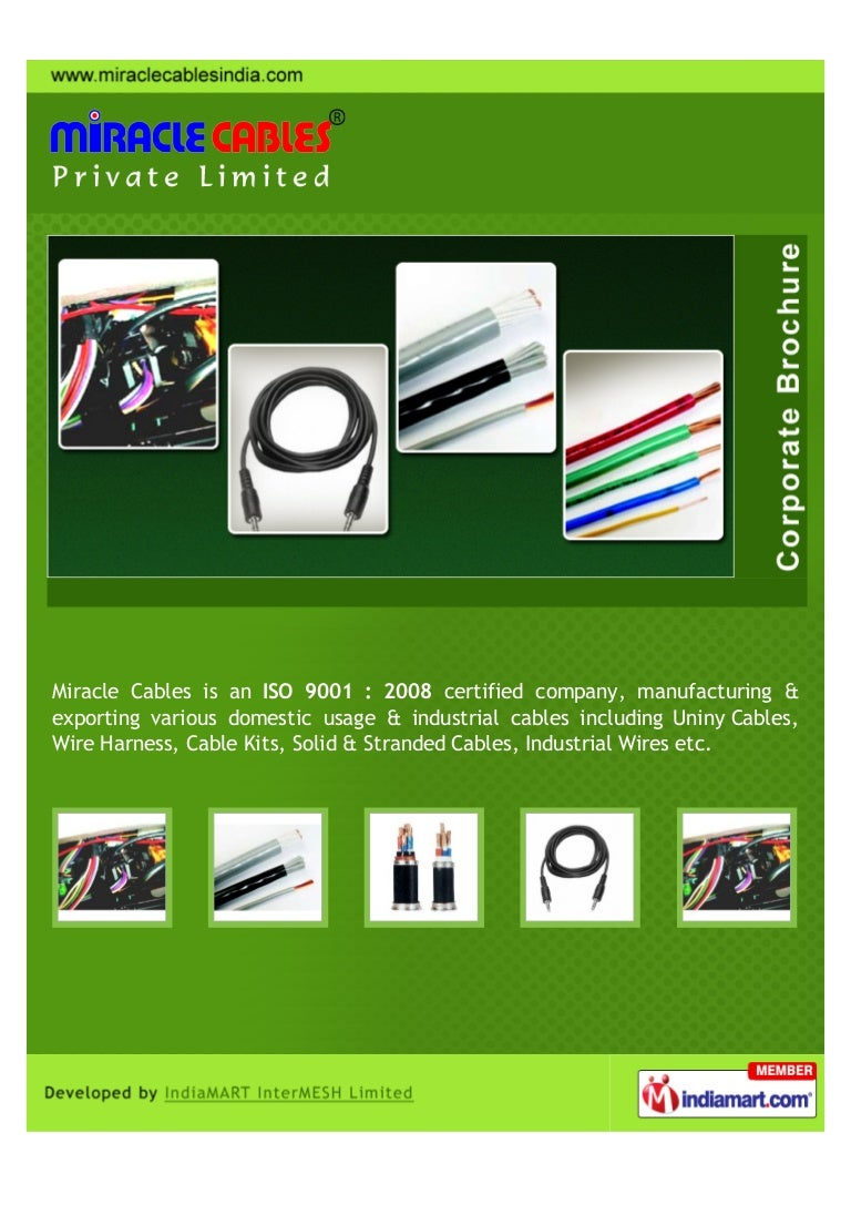 Miracle Cables Private Limited Mumbai Wires And Cable A Wiring Harness India
