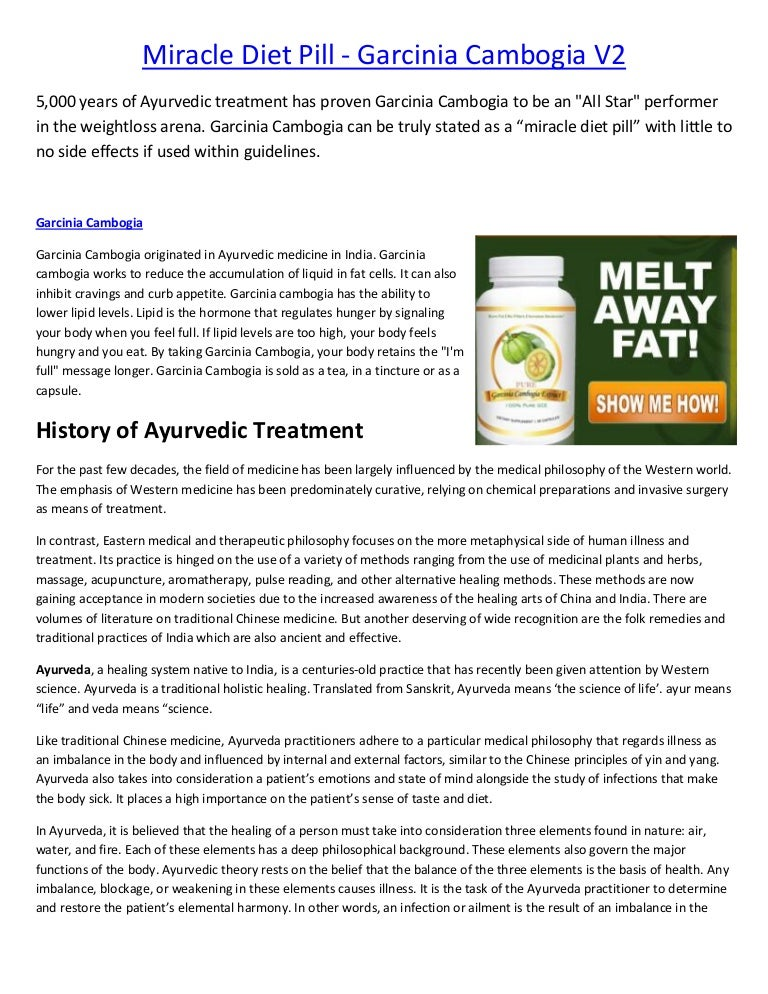Miracle diet pill garcinia cambogia select e book short fandeluxe Gallery