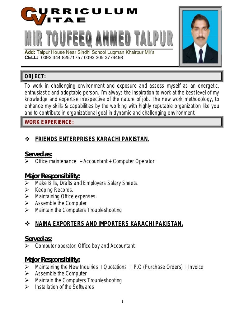 Fine Office Boy Resume Format Doc Photos   Example Resume Ideas .