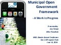 gov2, open government municipal framework