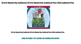 M is for Mama's Boy Audiobook - M is for Mama's Boy Audiobook Free - Kids Audiobook Free