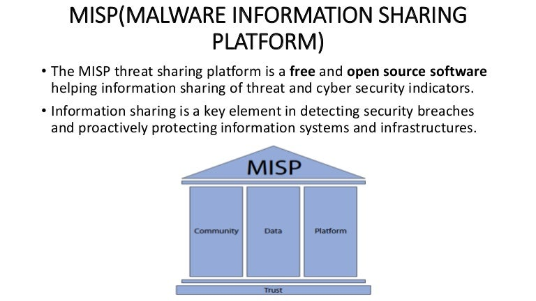 Misp(malware information sharing platform)