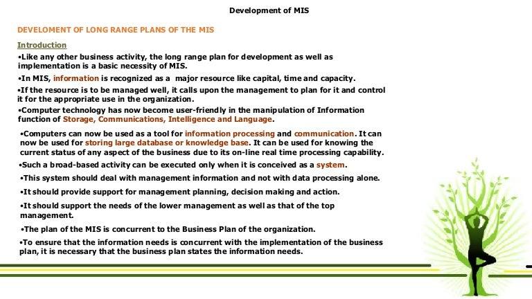 Information Systems Strategic Planning - MASET, LLC