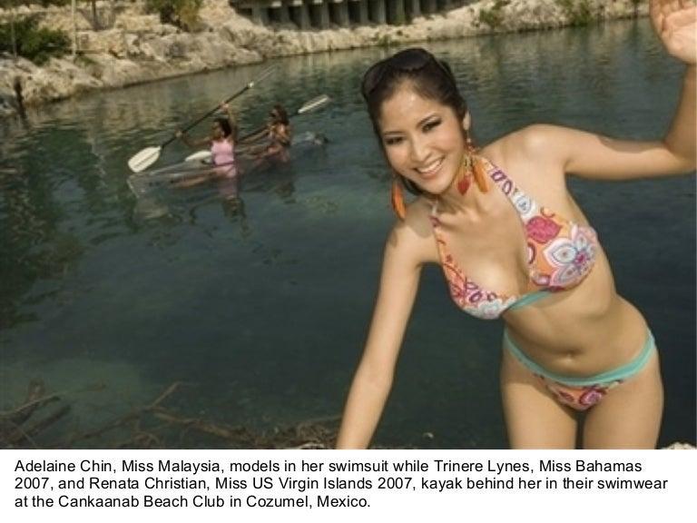 Malaysian actress in bikini