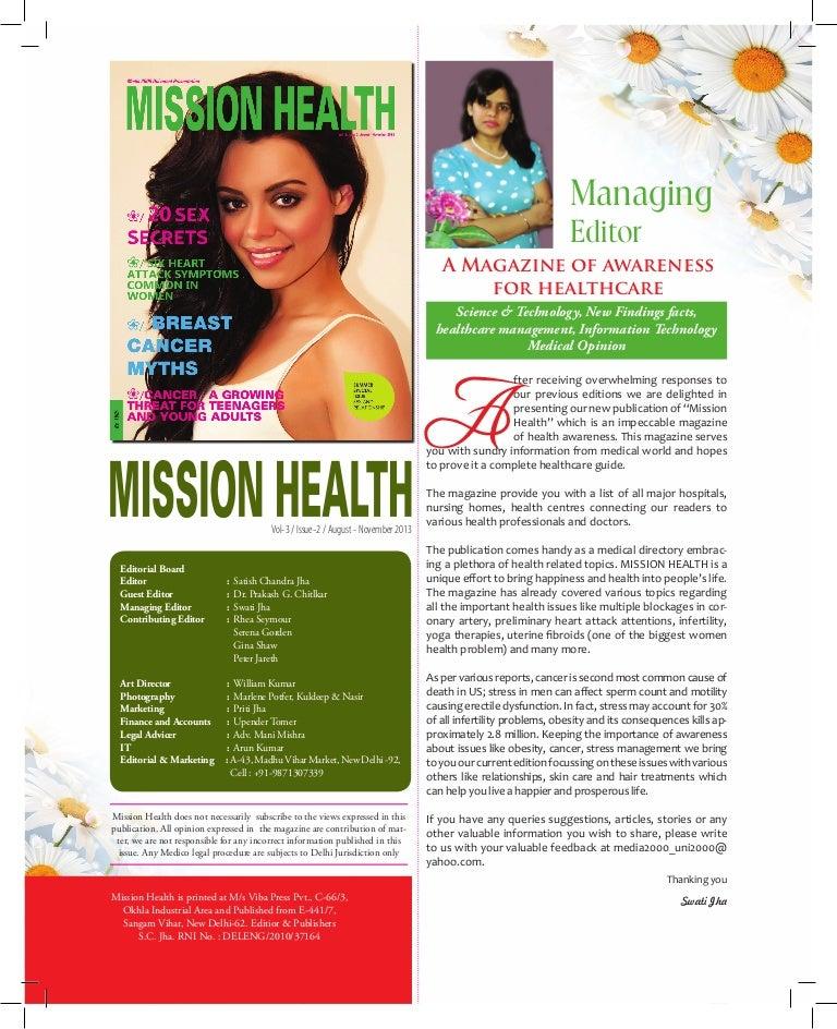 Mission health Magazine, Health Magazine, Magazine Design