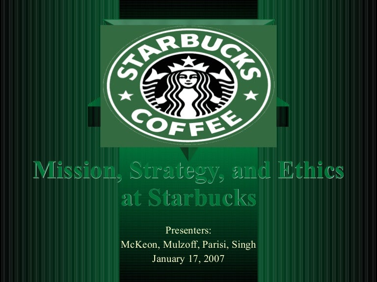 environment ethics at starbucks The starbucks business ethics and compliance: standards of business conduct document lays an ethical framework for the company's mission to inspire and nurture the.