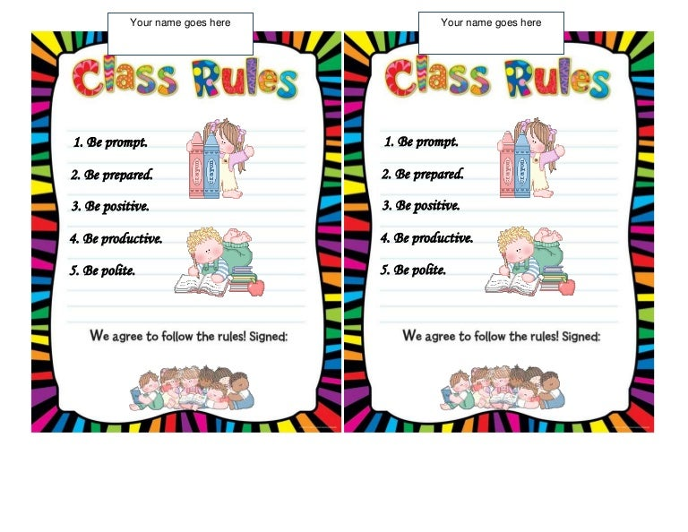 My Classroom Rules