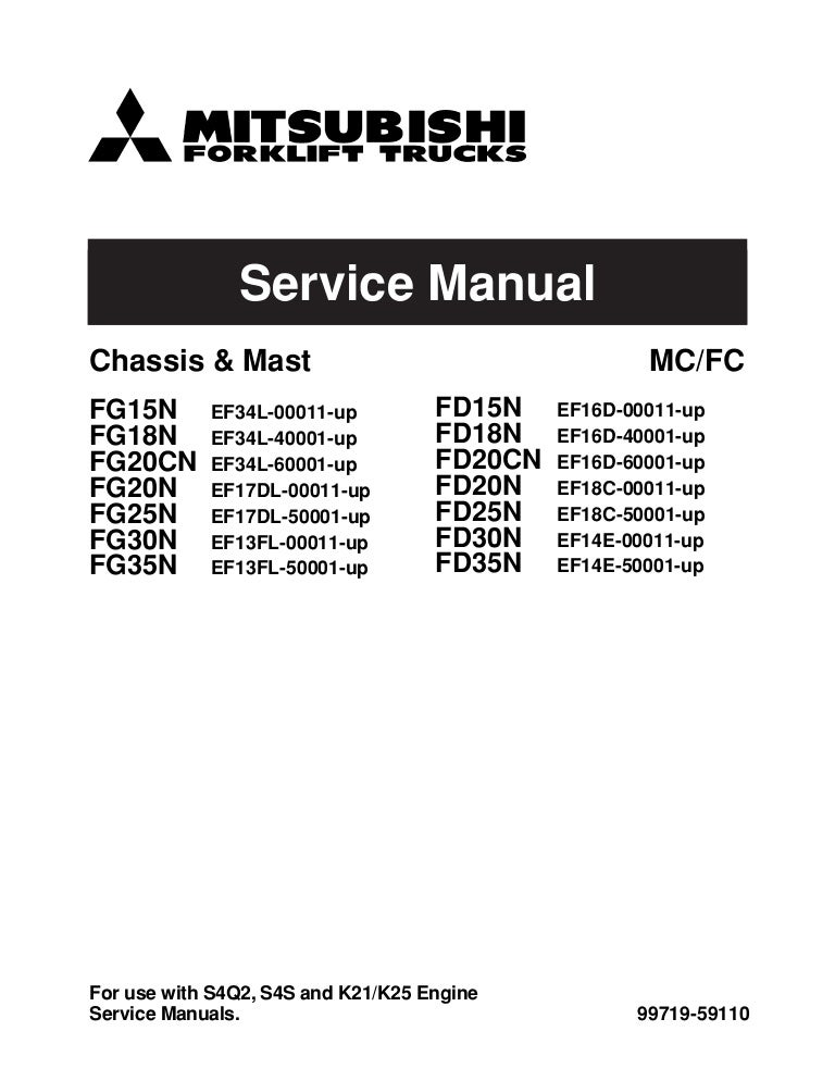 mitsubishi fg15 n forklift trucks service repair manual sn  mitsubishi industrial truck schematics #9