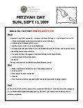 Mitzvah Day 2009 Updated Sign Up Sheet