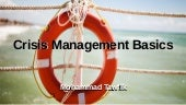 Crisis Management Basics