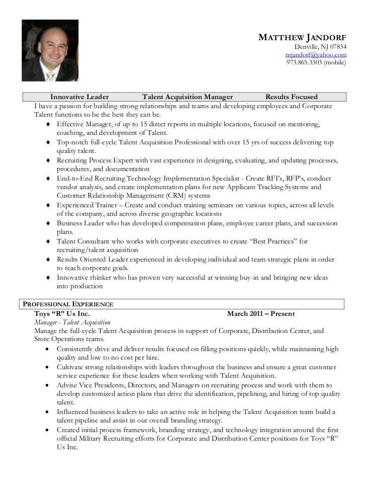 matt jandorf resume