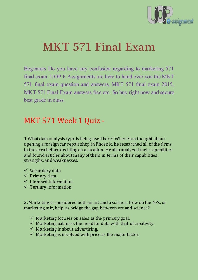 mkt 571 final exams 4 Mkt 571 week 4 team assignment classic airline channel and pricing strategy  • final exams • fnce • fnlt • fp • gb • gba • gbm • gen • geog • gf.