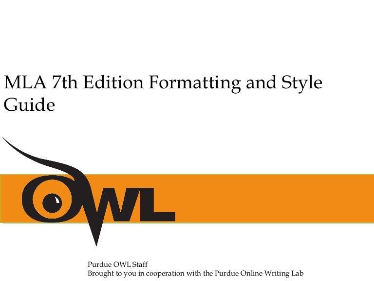 mla formatting style