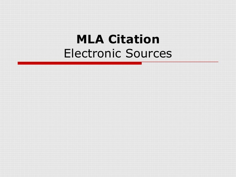 online mla citation