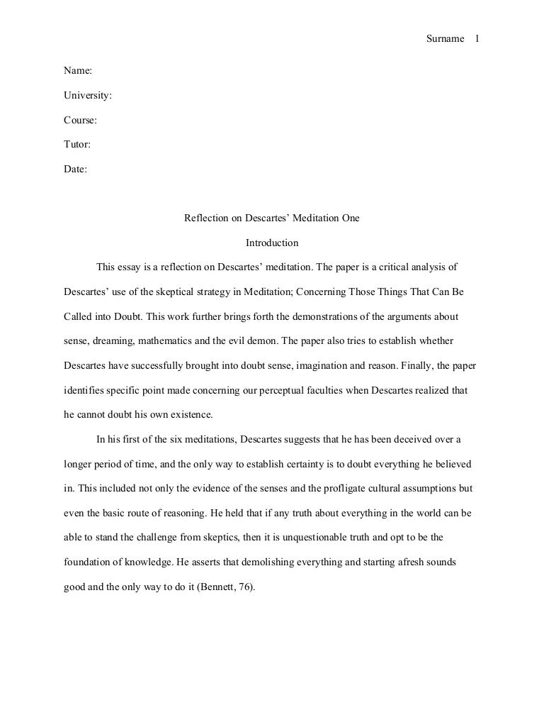 how to write a reflection paper on an article