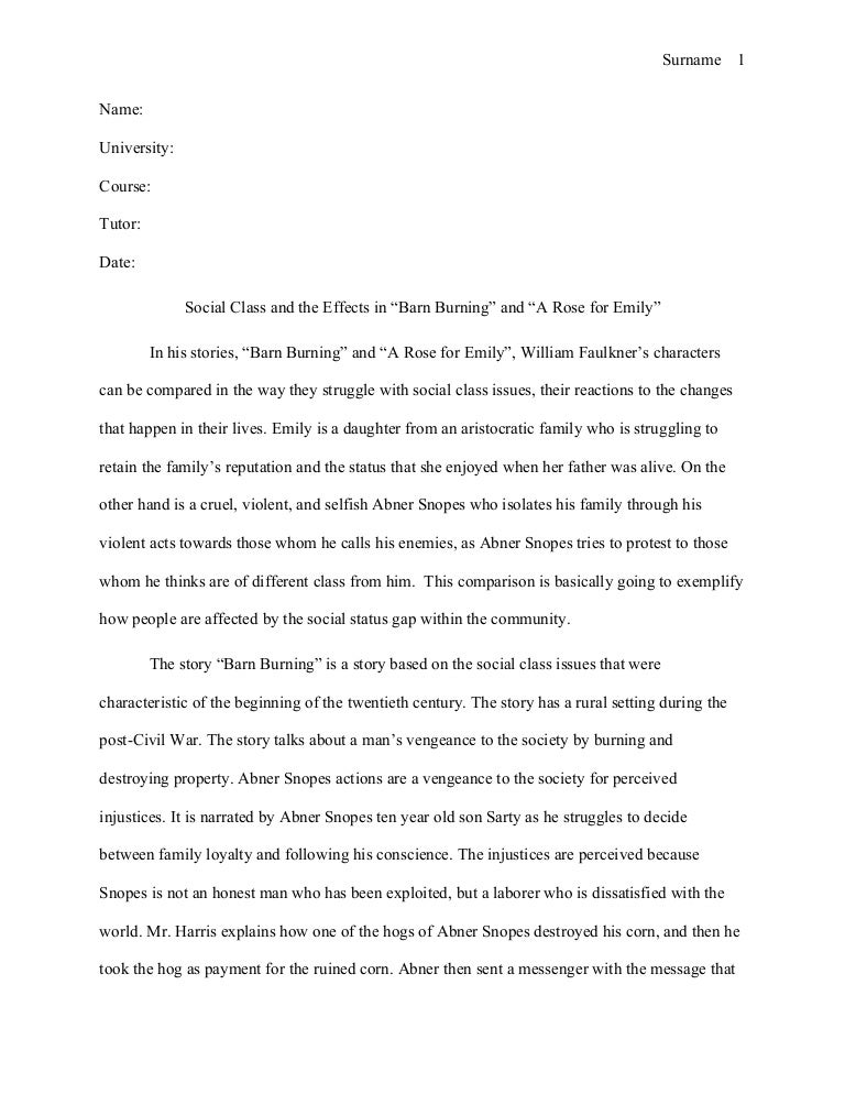 Mla style essay william faulkner