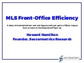 MLS Front-Office Efficiency: A Club-by-Club History