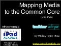 Mapping Media to the Common Core with iPads (Aug 2013)