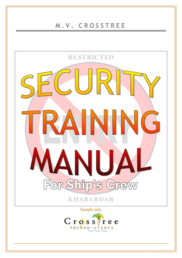 Ship Security Training Manual Sample – Sample Training Manual