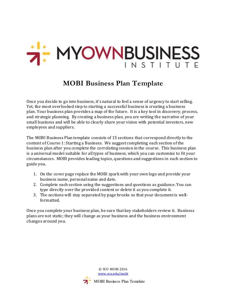 Mobi BusinessPlanTemplate