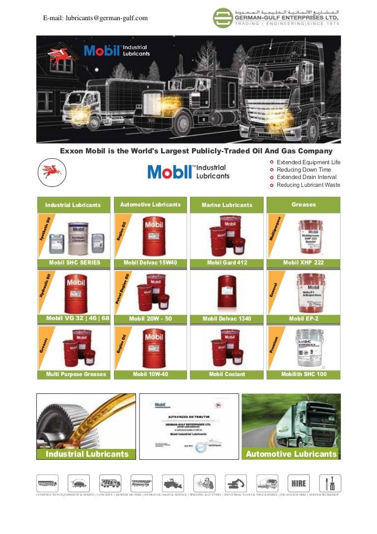 Mobil Lubricants UAE - Germangulf com - UAE