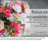 Developing accessible android applications