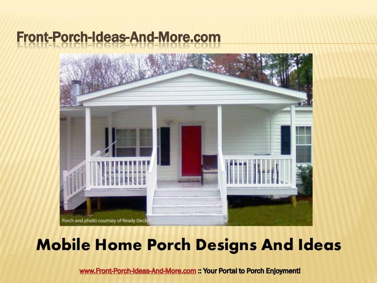 Porch design ideas for mobile homes Landscape design ideas mobile home