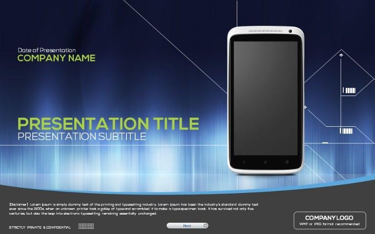 Mobile powerpoint template toneelgroepblik Gallery