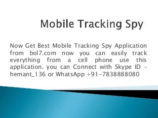 Mobile tracking-spy