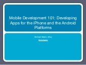 Mobile Development 101