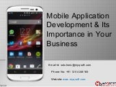 Mobile Application Development & Its Importance in Your Business