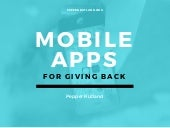 Mobile Apps For Giving Back