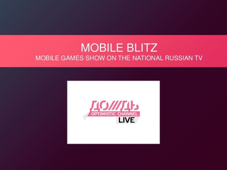 Mobile Blitz TV Show Presentation for publishers