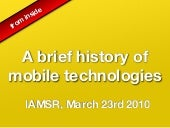 A brief history of mobile technology