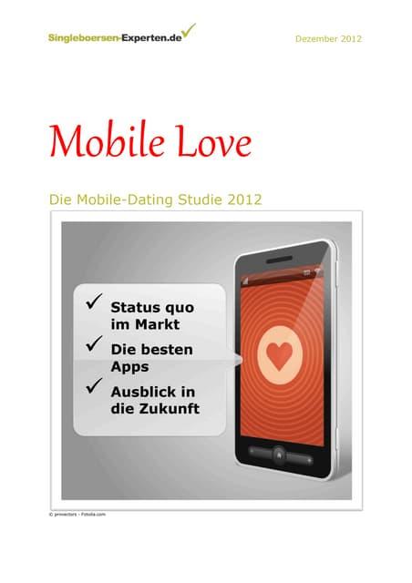 Mobile Love: Mobile Dating Studie 2012