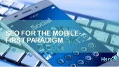 SEO and The Mobile-First Paradigm Shift
