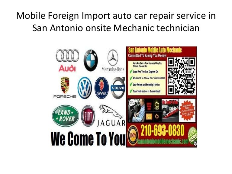 European and German Foreign car Repair San Antonio Mobile ...