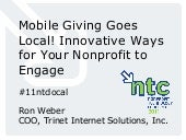 Mobile Giving Goes Local