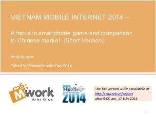 Mobile internet - vietnam - 2014